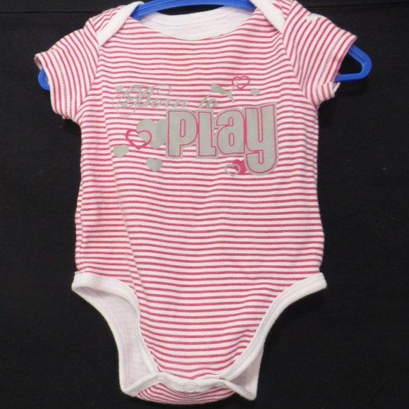 """PUMA, 3-6 months, diaper shirt, """"Born to Play"""""""
